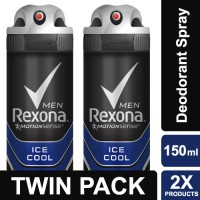 Rexona Men Anti-Perspirant Deodorant Spray Ice Cool 150ml Twin Pack