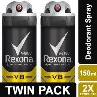 Jual Rexona Men Anti-Perspirant Deodorant Spray V8 150ml Twin Pack Murah