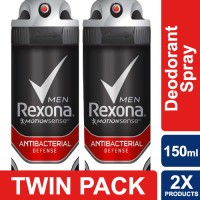 Rexona Men Anti-Perspirant Antibact Defense 150ml Twin Pack