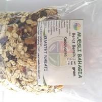 Muesli Bahagia - campuran rolled oat, buah kering, kacang, & biji 500