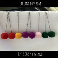 Jual Earring / Anting Pompom Murah