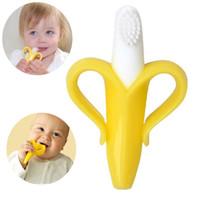 sikat gigi bayi baby banana toothbrush teether silikon bpa free