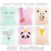Jual Baju baby KAZEL T-SHIRT PANDA (SNI)  ISI 3PCS Murah