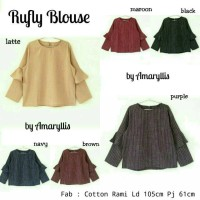 rufly blouse by amaryllis