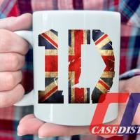 Gelas Mug Desain One Direction Logo Flag 1D