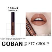 Goban Lipstick Melted Matte Lip Cream Teddy Brown 4.5gr Caramel Brown