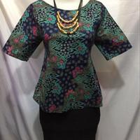 Jual blouse batik brokat Murah