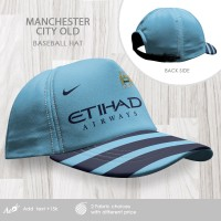 Topi Baseball Football Team - Manchester City Old Logo