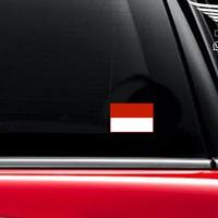 Jual Stiker Mobil Bendera Indonesia Flag Merah Putih Vinyl Decal Sticker Murah