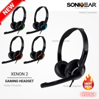 SONIC GEAR Headset XENON 2. Musik, Game dan Video Chat Support. Resmi
