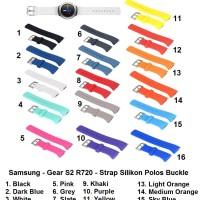 Samsung Gear S2 R720 - Silicone Strap Polos Buckle Tali Jam Silikon