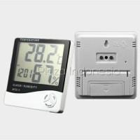 Jual Termometer Suhu Ruangan HTC-1 Digital Hygrometer LCD + Clock Murah