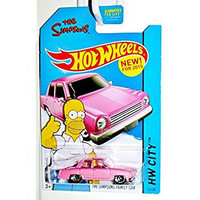 Hot Wheels The Simpsons Family Car Pink