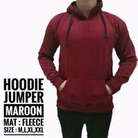 harga Jaket Polos Pria Cowok Hoodie Jumper Sweater Merah Maroon Keren Gaul Tokopedia.com