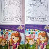 buku mewarnai anak karakter putri sofia
