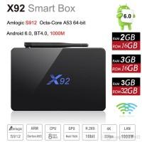 Jual ANDROID TV BOX  X92 OS 6.0 Amlogic S912 Murah