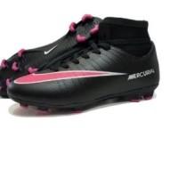 sepatu bola nike mercurial original premium black pink 39-44 import