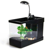 Aquarium Mini USB Lileng-918 Akuarium Ikan Akuarium Portable