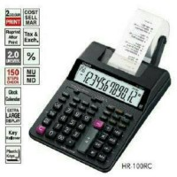 Paket Hemat CASIO HR-100TM - Print kalkulator, kertas struk & tinta