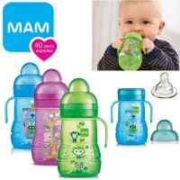 MAM BABY NEW TRAINER TRAINING CUP SPOUT + NIPPLE BOTOL MINUM BAYI 220M