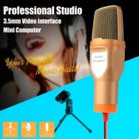 3.5mm Singing Karaoke Microphone Mic PC Laptop MSN Skype VOIP + Tripod