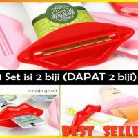Penjepit Odol / Pasta Gigi / Krim (Bentuk Bibir) - (1set isi 2pc)