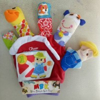 Jual Chicco Hand Puppet 5 Fingers (dilengkapi Rattle, bahan kain halus) Murah