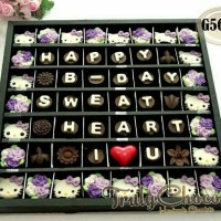 hadiah coklat praline hello kitty untuk teman, pacar, kerabat