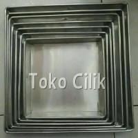loyang/kotak/pendek/4 cm/ukuran 24 cm/cetakan/kue/square/anti karat