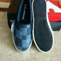 sepatu Airwalk Original Casual Slip On Breza Blue Denim Women