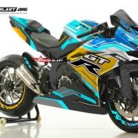 decal stiker CBR250RR Hitech Blue GTR