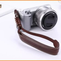 Camera Wrist Hand Strap PU Leather lanyard for Sony A6000