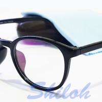 Jual Frame Kacamata Kaca Mata Bulat Owl Eye Hitam (Frame+Lensa) Murah