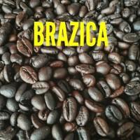 """Kopi Biji Robusta Lampung 250 gram Merek Brazica """"Gold Quality"""""""