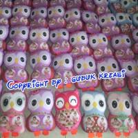 Jual souvenir ultah bantal owl FALYA 4th Murah
