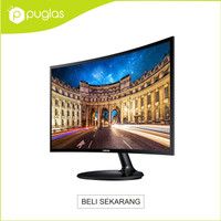 "Monitor Samsung LED 24"" Inch C24F390 Curved For Komputer PC Computer"