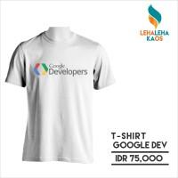 Kaos Programer Google Developer - Combed 30s Premium - Sablon Polyflex