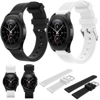 Samsung Gear S2 Classic - Rubber Sporty Watch Strap Striped Pattern