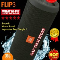 JBL FLIP 3 - Splashproof Portable Wireless Bluetooth Speaker (Black)