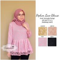 Jual Atasan / Baju Cewek / Tunik / Blouse Cewek / Peplum Lace blouse Murah