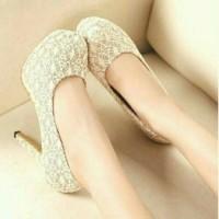 Jual high heels brukat wanita office dan pesta Murah