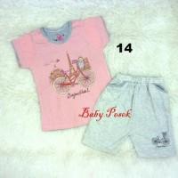 Jual Baju Setelan Anak Perempuan Bonjour Paris Harian ( 3,5 - 7 th ) Murah