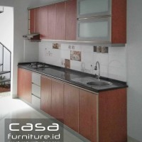 Kitchen set Minimalis top table granit panjang 3 meter