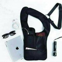 Shoulder bag tas gadget pundak anti maling FBI style (premium)
