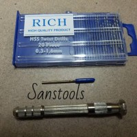 pegangan mini drill 21pcs germany rujuk rojok spuyer karburator pcb