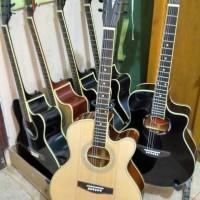 Gitar Akustik Cort Natural Gloosy Dobel Round