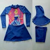 Baju Renang Princess Muslim Cinderella Usia Anak SD