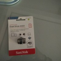 Jual SanDisk Ultra Dual Drive M3.0 16GB USB 3.0 OTG Flash Drive model NEW Murah