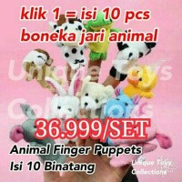 Jual Boneka Jari Binatang (Animal Finger Puppet) Hewan Murah