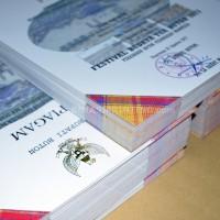 Cetak Piagam Art Carton 260 Gram + Logo Garuda Emas